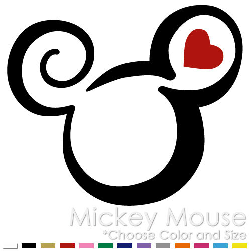 tribal mickey minnie mouse two color tattoo disney vinyl decal sticker mm 09 ebay. Black Bedroom Furniture Sets. Home Design Ideas