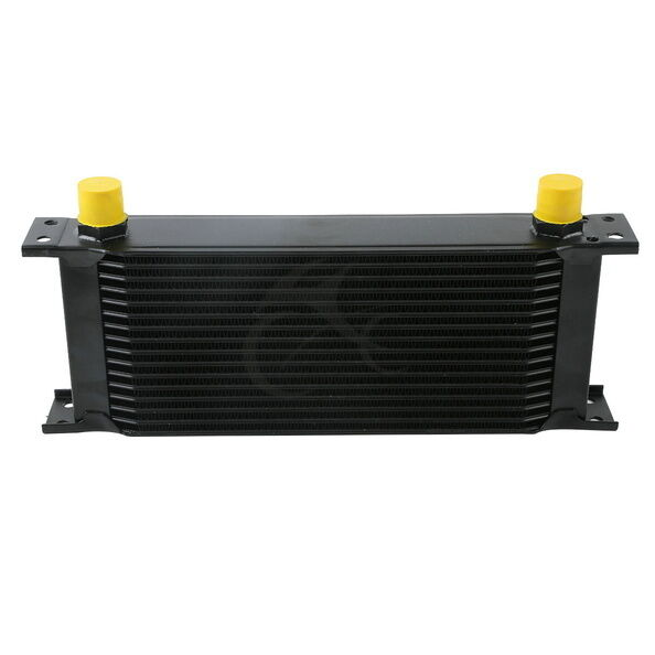Auto Mobile Engine Oil Cooler : Black universal car row an engine transmission