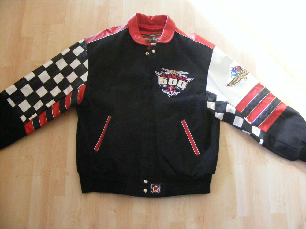 VINTAGE NEW MENS INDY 500 NUMBERED LEATHER JACKET SIZE