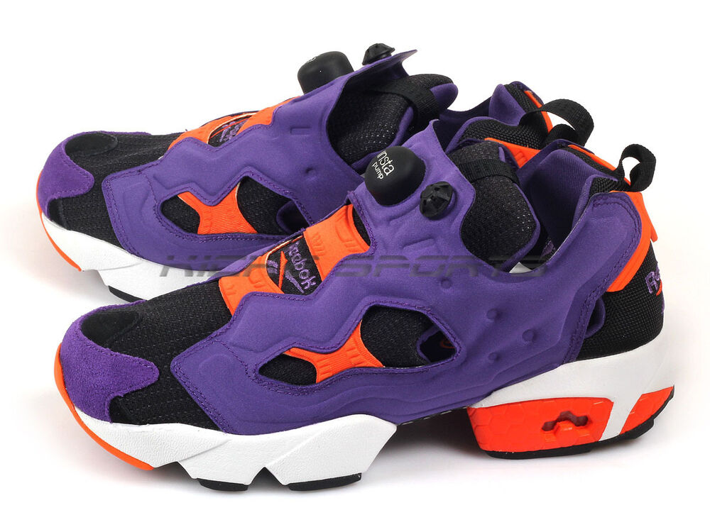 reebok insta pump fury og sport violet black orange classic running 2015 m46894 ebay. Black Bedroom Furniture Sets. Home Design Ideas