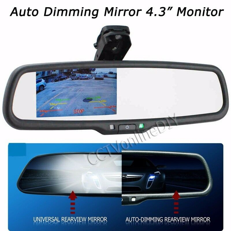 car rear view auto dimming mirror w 4 3 tft lcd 800 480. Black Bedroom Furniture Sets. Home Design Ideas