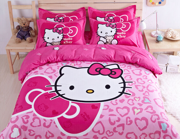 Cute Hello Kitty Bedding Duvet Quilt Cover Bedding Set