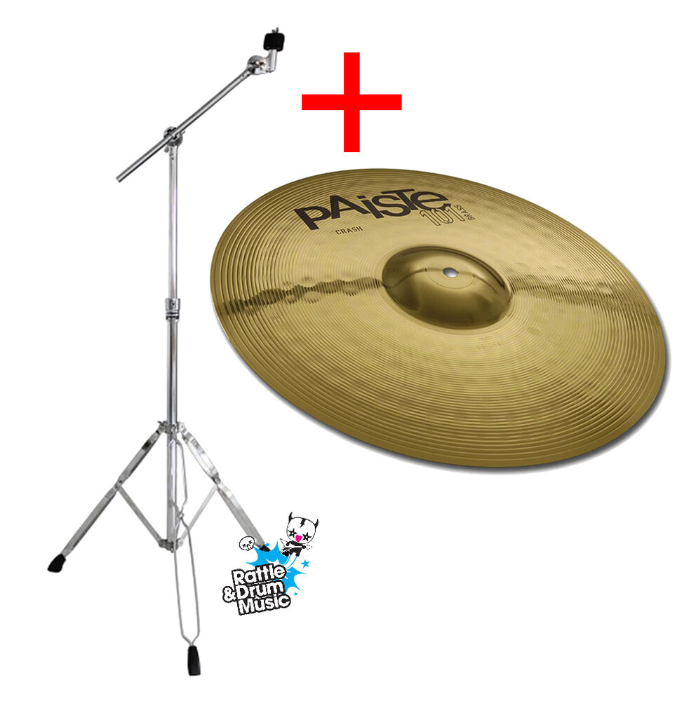 paiste 101 14 brass crash cymbal with mapex b200 boom stand ebay. Black Bedroom Furniture Sets. Home Design Ideas