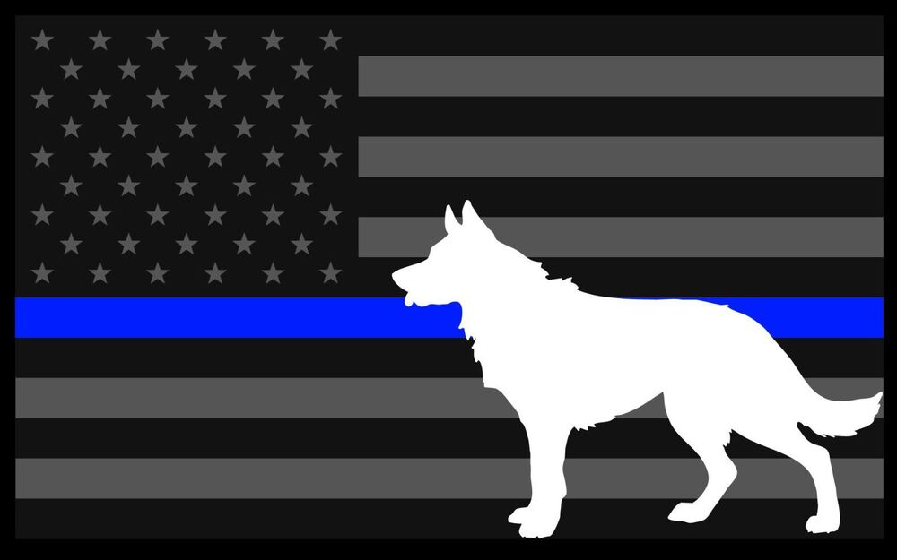 5x3 Inch Reflective Decal K9 Tactical Police Law ...