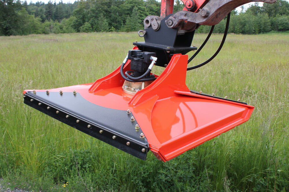 Hydraulic Rotary Mower : Cyclone quot rotary mower for excavators and other boom