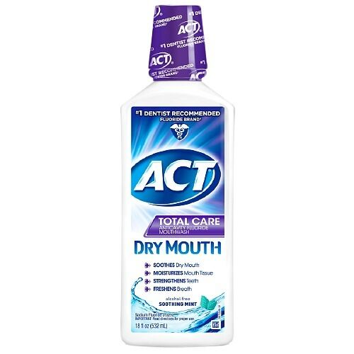 Act Mouthwash Dry Mouth >> ACT Total Care Dry Mouth Anticavity Mouthwash, Soothing Mint 18 oz (Two Bottles) | eBay