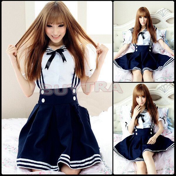 Japanese Girl Japan School Uniform Dress Sailor Cosplay