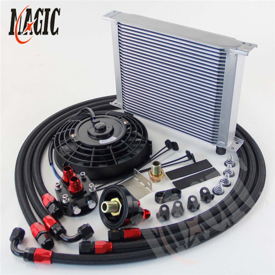 30 Row Universal AN8 Engine Transmission Oil Cooler