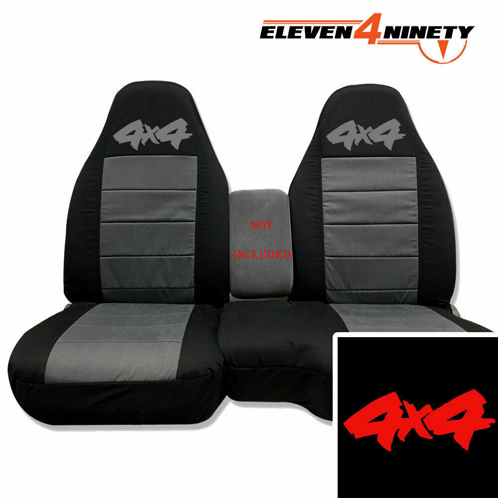 91 03 ford ranger 60 40 black charcoal seat covers 4x4 logo choose color ebay. Black Bedroom Furniture Sets. Home Design Ideas