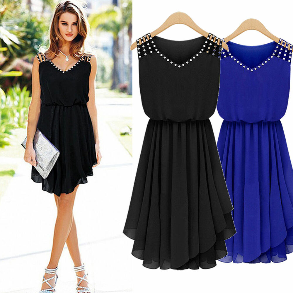 Women Sleeveless Summer Maxi Dress Ladies Casual Evening