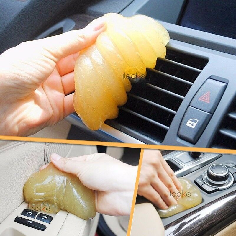 new car clean interior vent air outlet storage box dust magic glue cleaner tool ebay. Black Bedroom Furniture Sets. Home Design Ideas