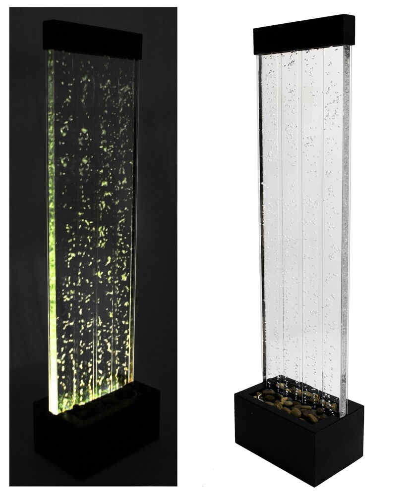 """Led Wall Light Feature: Bubble Water Wall 4' 9"""" Color Changing LED Lights Indoor"""