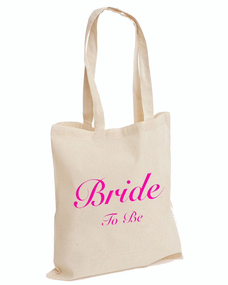 Wedding Favour Tote Bags Keepsake Hen PARTY Bridal Novelty TOP BRIDE TO BEBAG