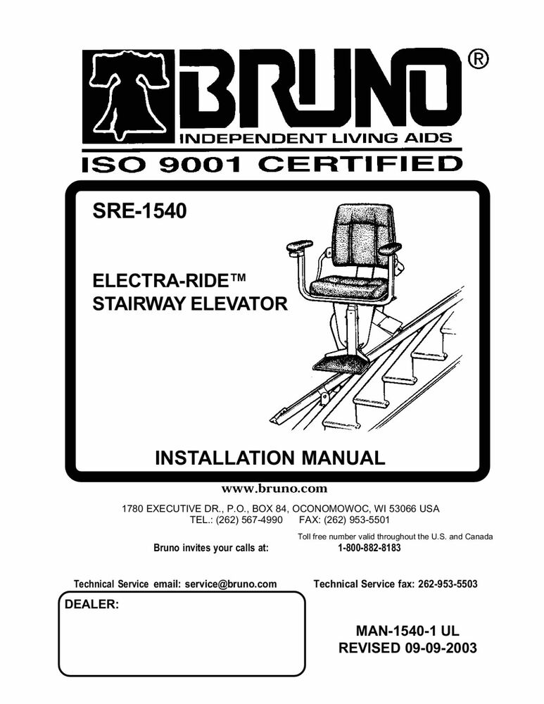 INSTALLATION MANUAL & OWNERS MANUAL- CD Copy - Bruno SRE-1540 ... on