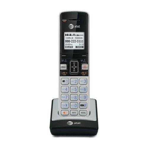 at t tl86003 2 line connect to cell caller id waiting id handset for tl86103 ebay. Black Bedroom Furniture Sets. Home Design Ideas