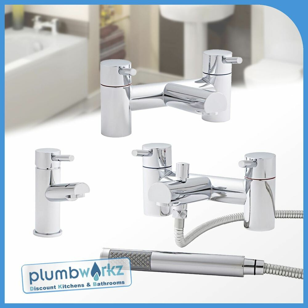 Chrome bathroom sink basin mixer bath filler shower tap for Bathroom taps