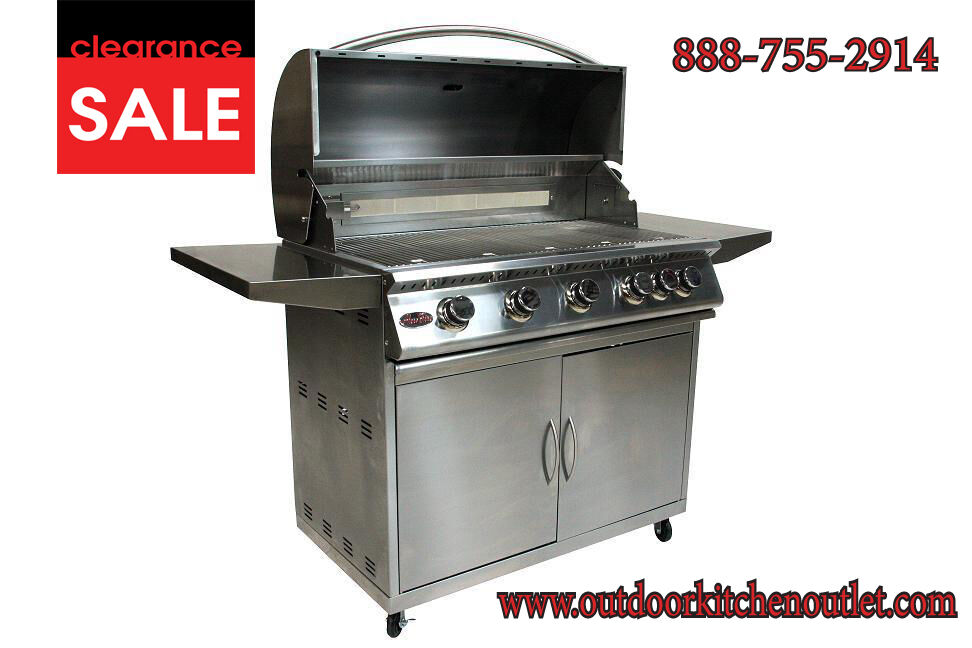 38 stainless steel drop in built in barbecue bbq island for Barbecue islands for sale
