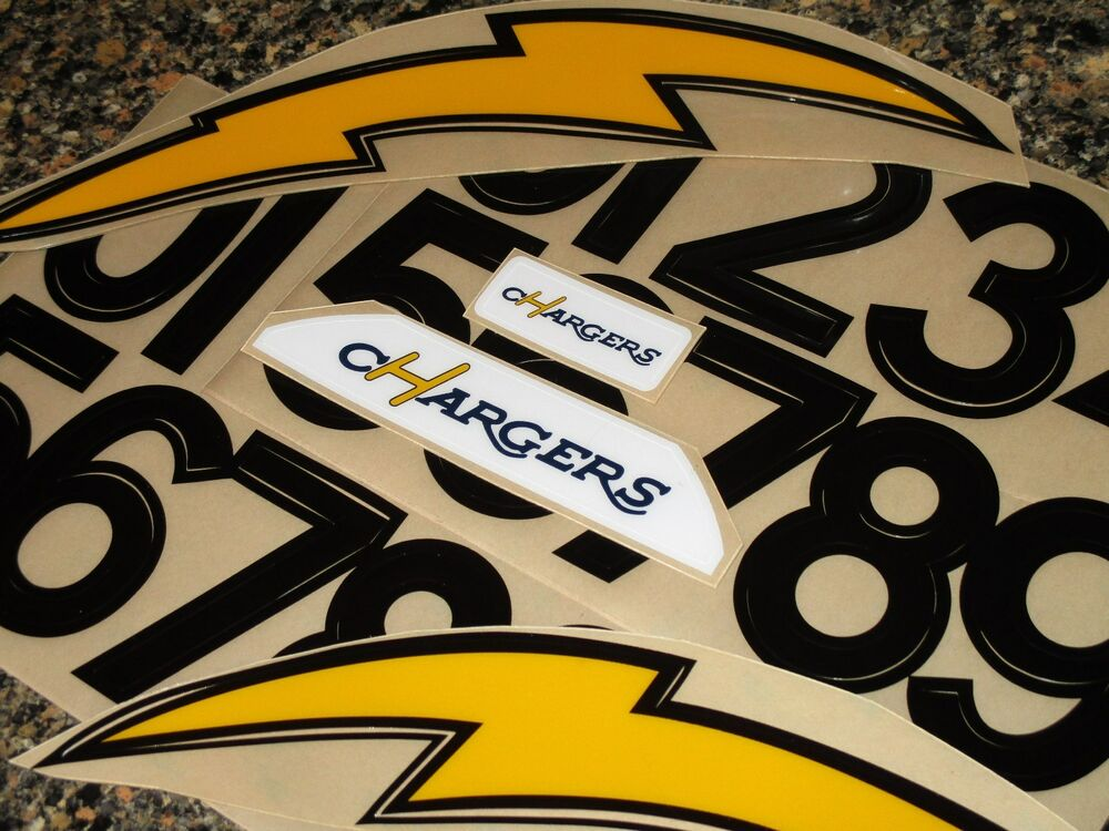 San Diego Chargers 2003 Throwback Football Helmet Decals