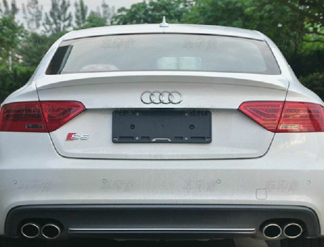 painted c style trunk boot spoiler for audi a5 coupe 8t3. Black Bedroom Furniture Sets. Home Design Ideas