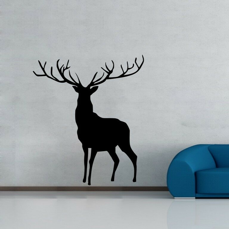 One large deer wall decor removable vinyl decal sticker for Deer wall mural