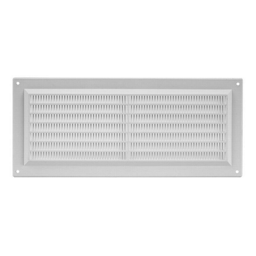air vent grille 12 39 39 x 15 295mm x 127mm fly screen white. Black Bedroom Furniture Sets. Home Design Ideas
