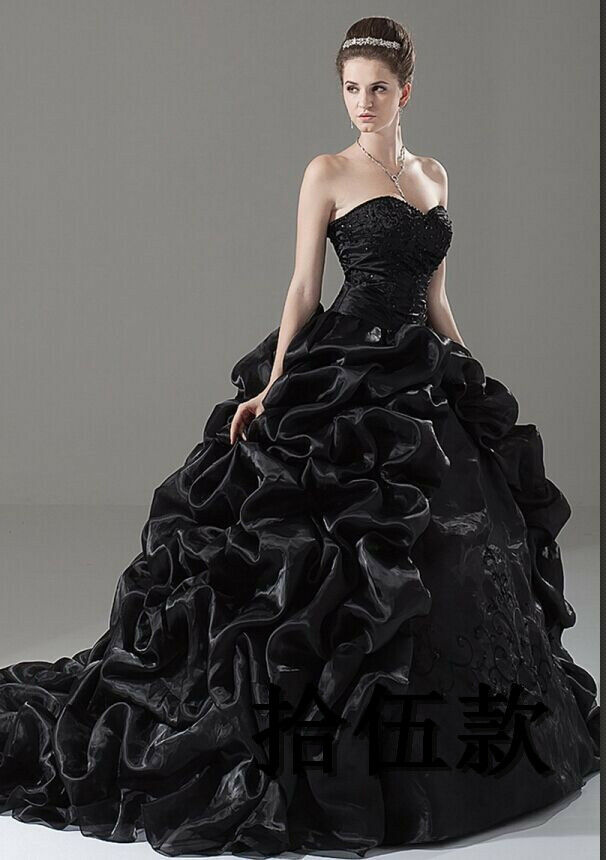 New black wedding dress bridal gown in stock size 6 8 10 for Ebay wedding dresses size 18 uk