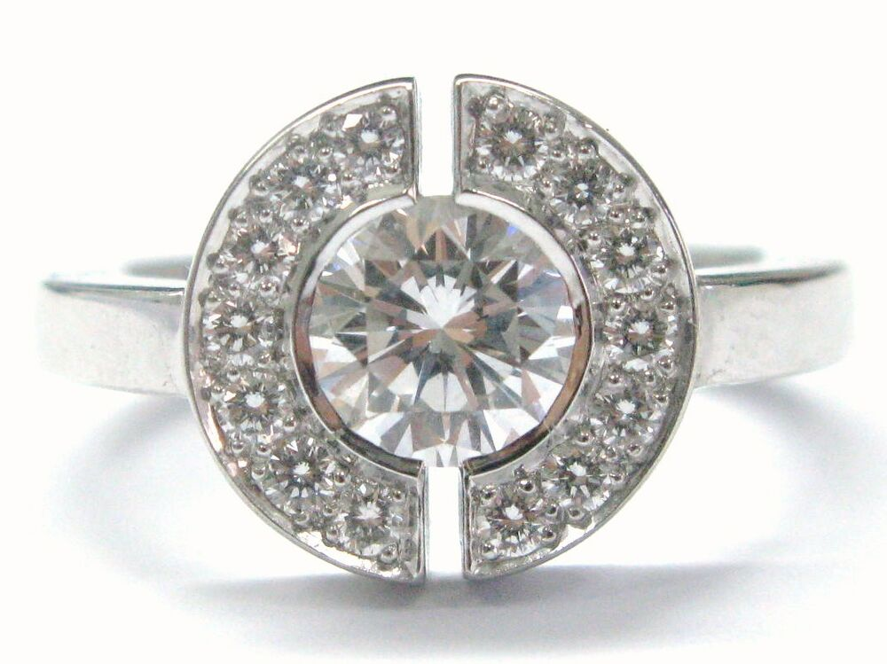 chanel 18kt round cut diamond engagement jewelry ring style j1501