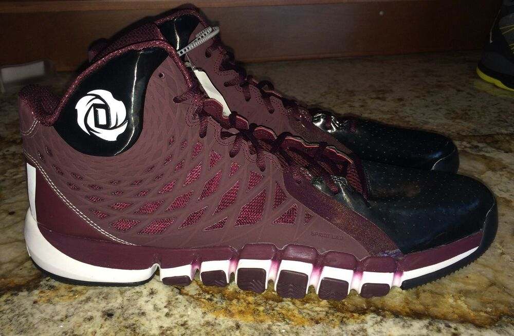 check out f18bc 561cb Details about ADIDAS D Rose 773 II 2.0 Maroon Black Whit Basketball Shoes  Sneakers NEW Mens 18