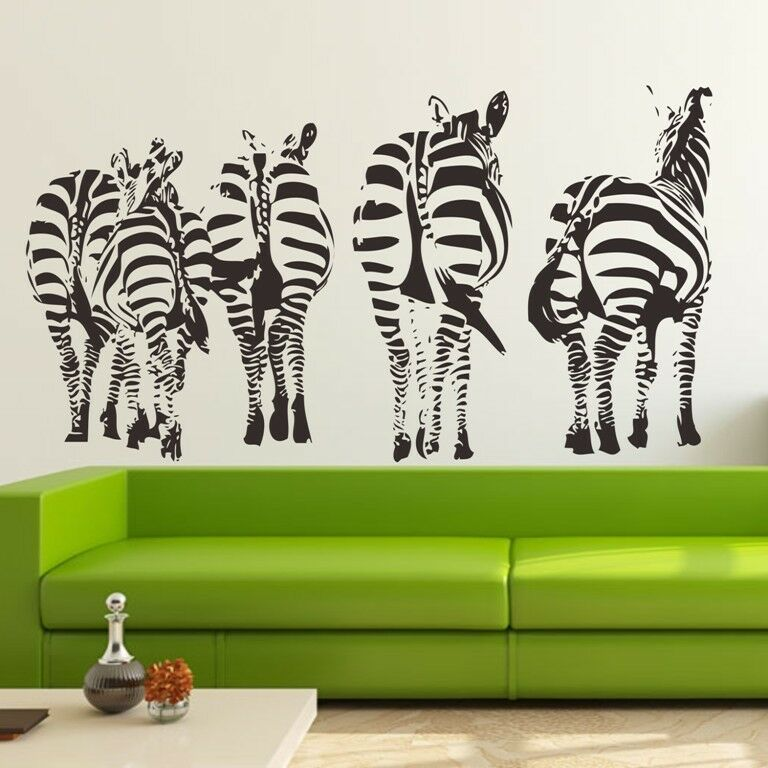 Family Wall Decor Diy : Zebra family wall decals removable stickers home decor diy