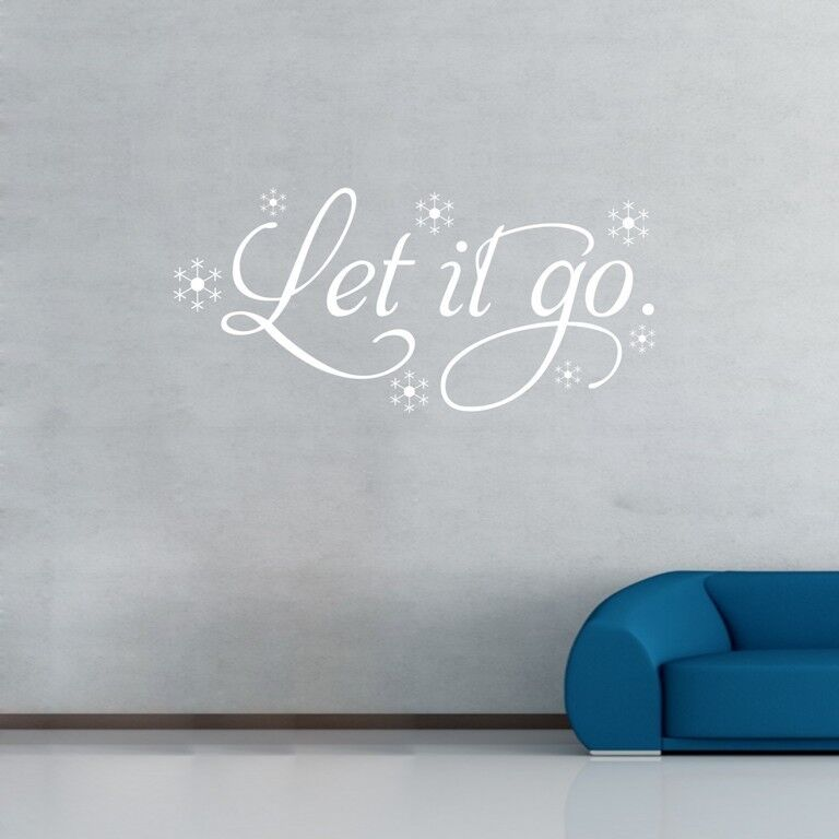 Frozen Wall Decor Kit : Let it go frozen elsa snowflake wall decals removable