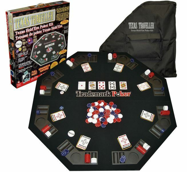 Folding Poker Table Top Texas Holdem Chip Playing Cards ...