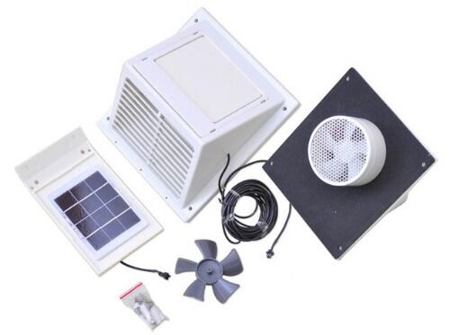 Separated Solar Panel Wall Fan Exhaust Vent W O Battery