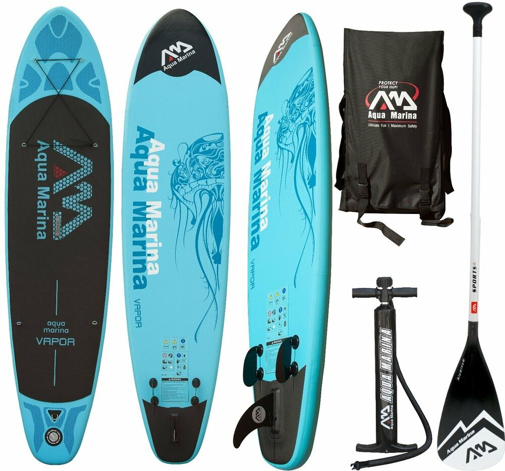 aqua marina spk 2 vapor sup inflatable stand up paddle surfboard ebay. Black Bedroom Furniture Sets. Home Design Ideas
