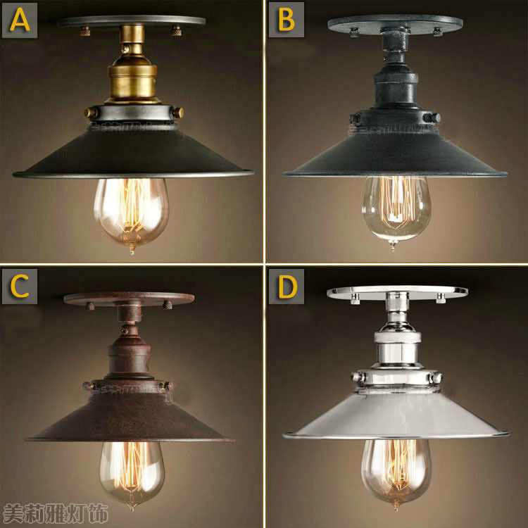 Ceiling Lights Home Bargains : Industrial loft style ceiling mount lamp light edison bulb