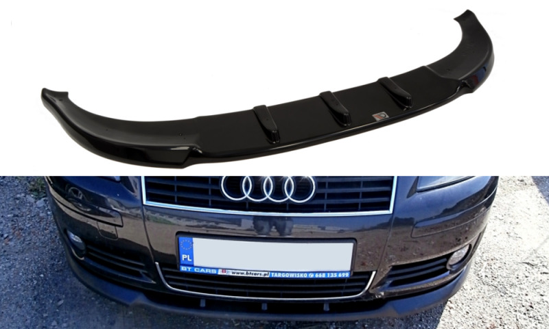 front splitter textured for audi a3 8p pre facelift. Black Bedroom Furniture Sets. Home Design Ideas