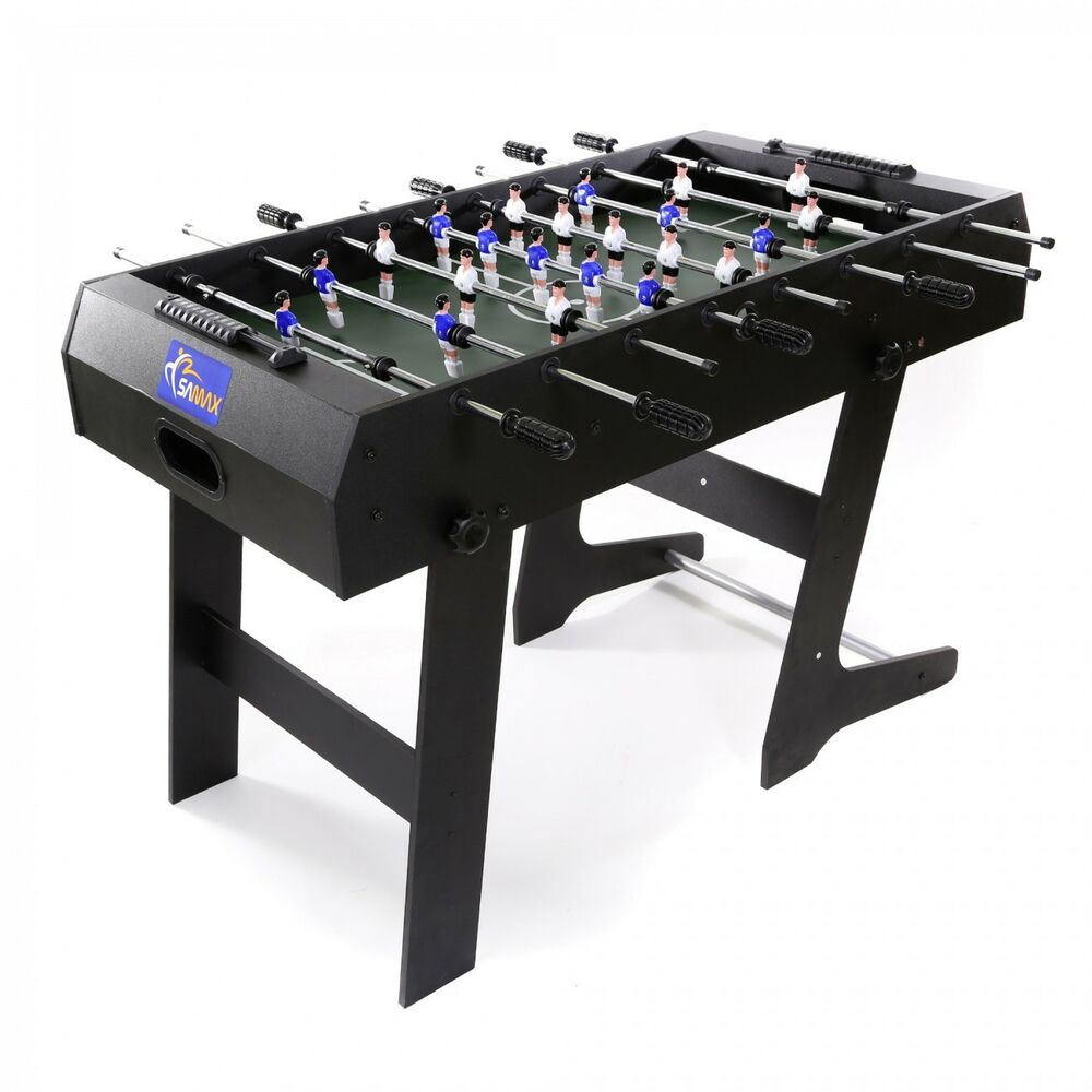 football table soccer table foosball kicker table game massive wood foldable ebay. Black Bedroom Furniture Sets. Home Design Ideas