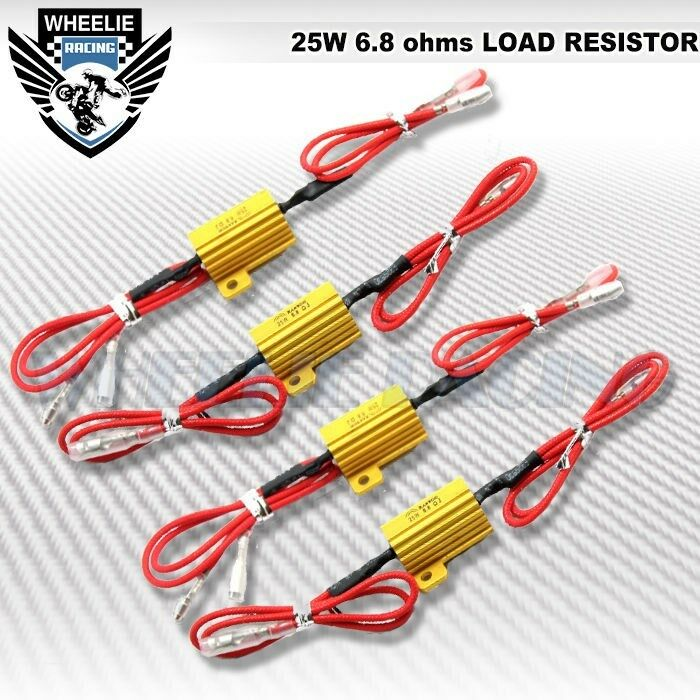 4 pcs 25w 6ohm 2 wire load resistor resister fix led turn
