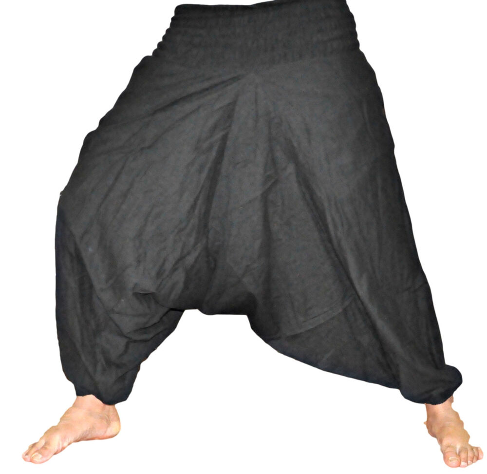 black mens harem trouserharem pantsyoga pantscasual hip