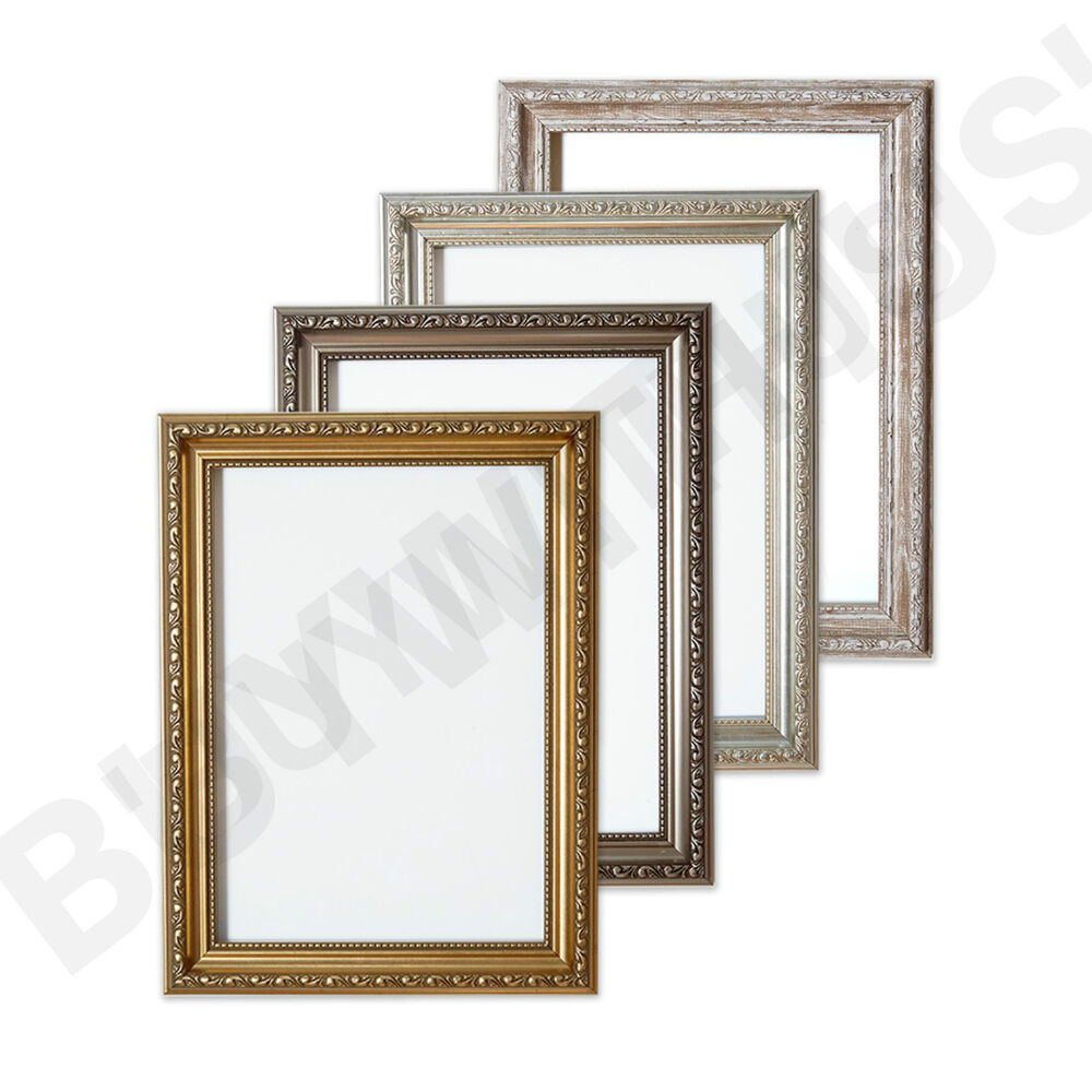 ornate shabby chic picture frame photo frame poster frame. Black Bedroom Furniture Sets. Home Design Ideas