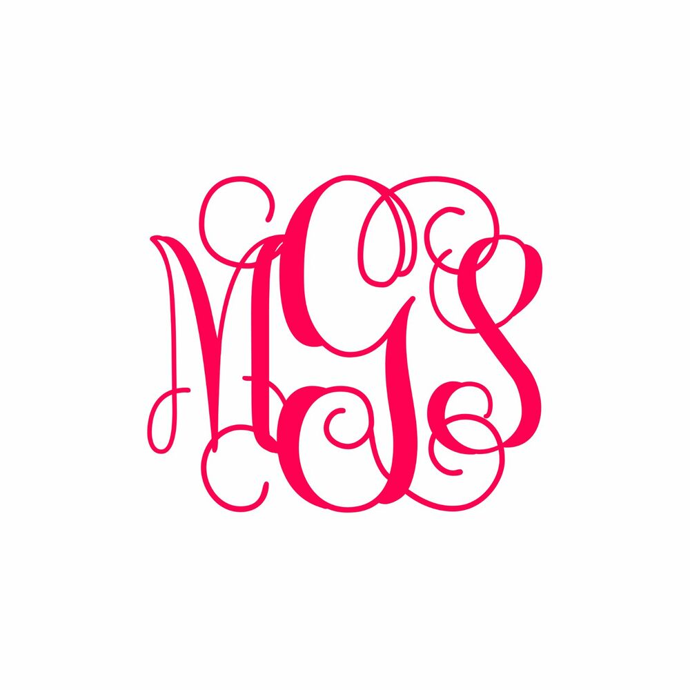 Best Custom Monogram Personalized Vinyl Decal Sticker