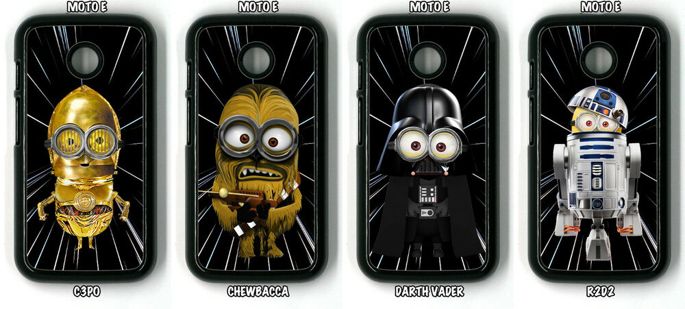 star wars minions phone case motorola moto e moto e2 moto g moto g2 ebay. Black Bedroom Furniture Sets. Home Design Ideas