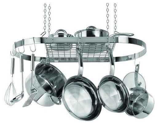hanging pot rack kitchen hanging pot rack stainless steel hanger organizer 29521