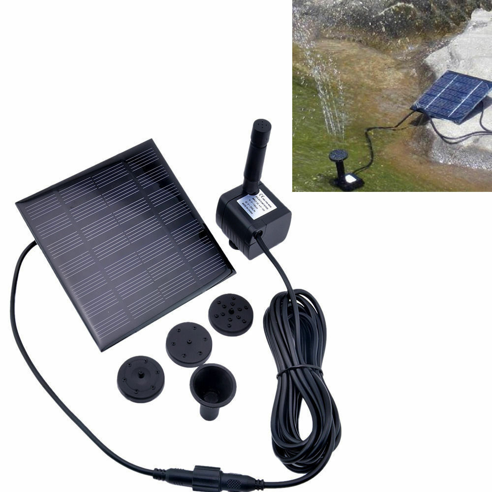 45cm solar power water pump panel kit fountain pool garden for Solar water pump pond