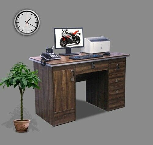 Computer Desk In Walnut With 3 Locks 4 Home Office Table