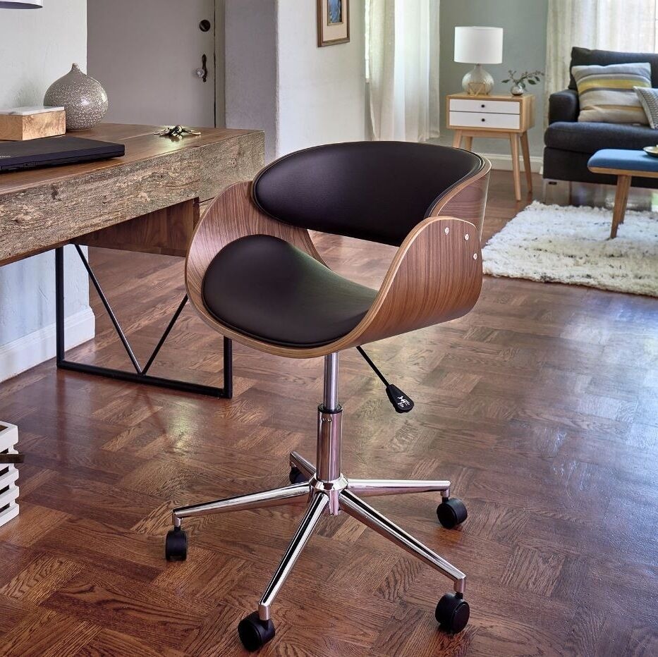 Retro office desk chair adjustable seat vintage guest - Retro office desk ...