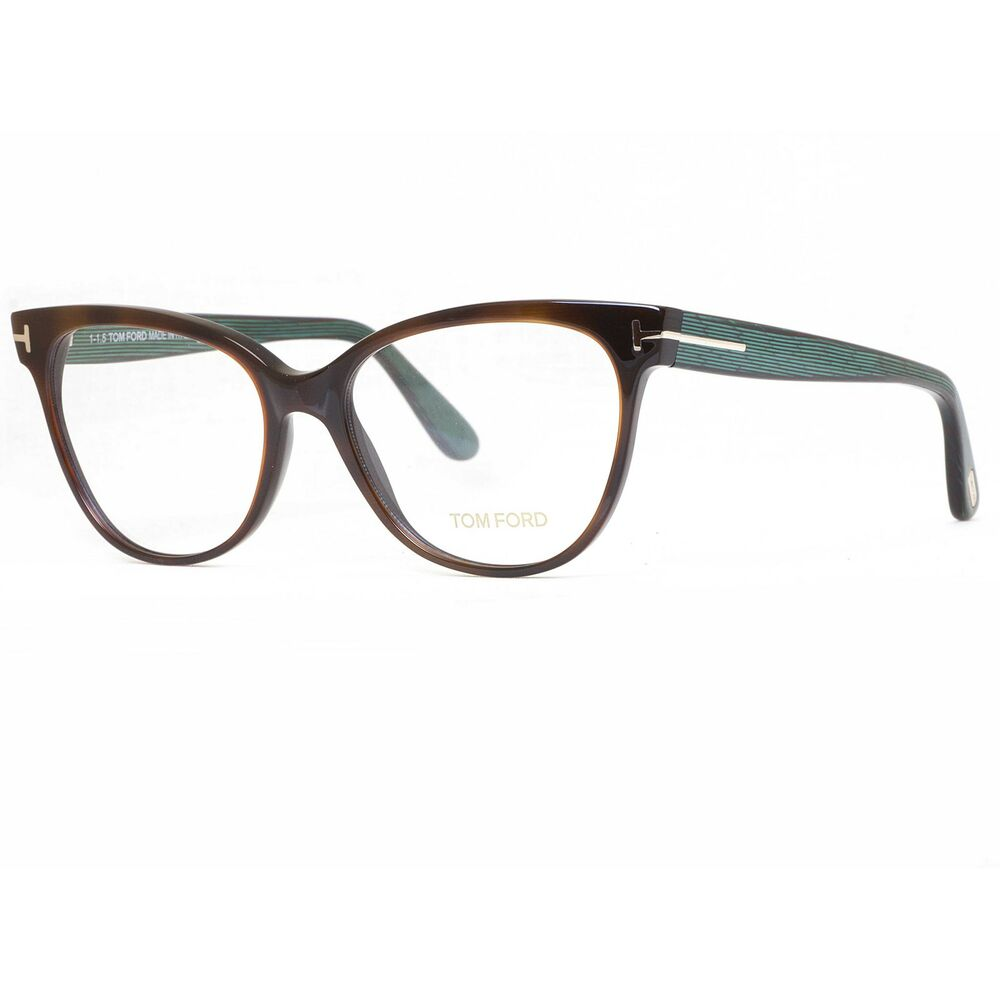 tom ford tf5291 052 55mm havana brown green stripes cat eye eyeglasses. Cars Review. Best American Auto & Cars Review