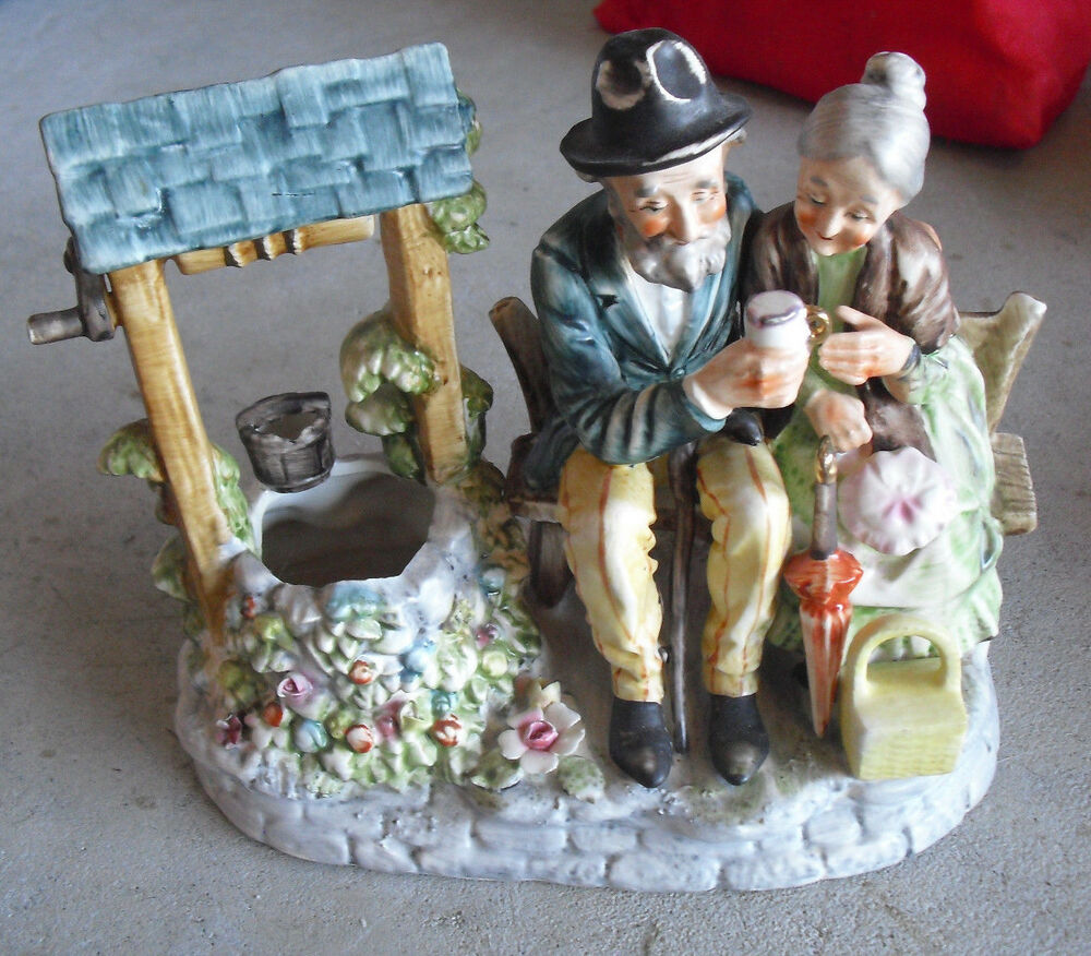 Large Vintage Norleans Porcelain Old Man and Woman at ...