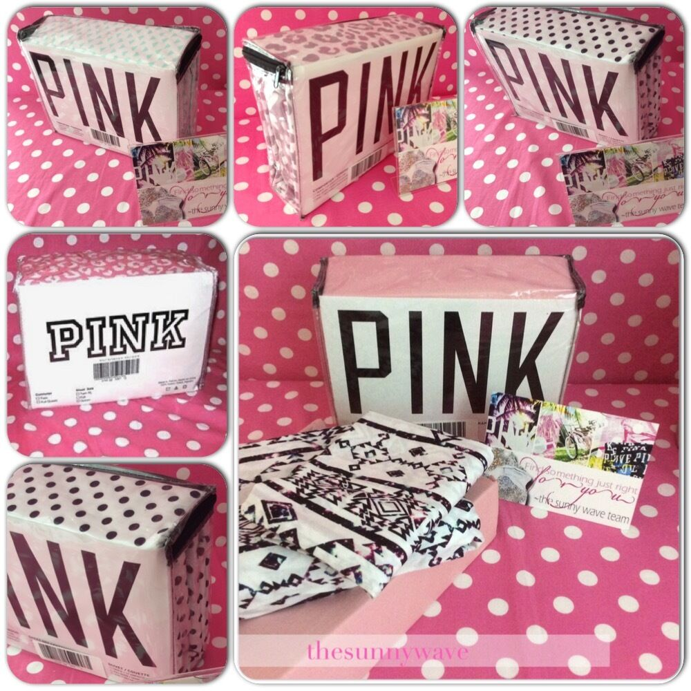 victoria 39 s secret pink dorm bed bedding sheets pillowcase. Black Bedroom Furniture Sets. Home Design Ideas