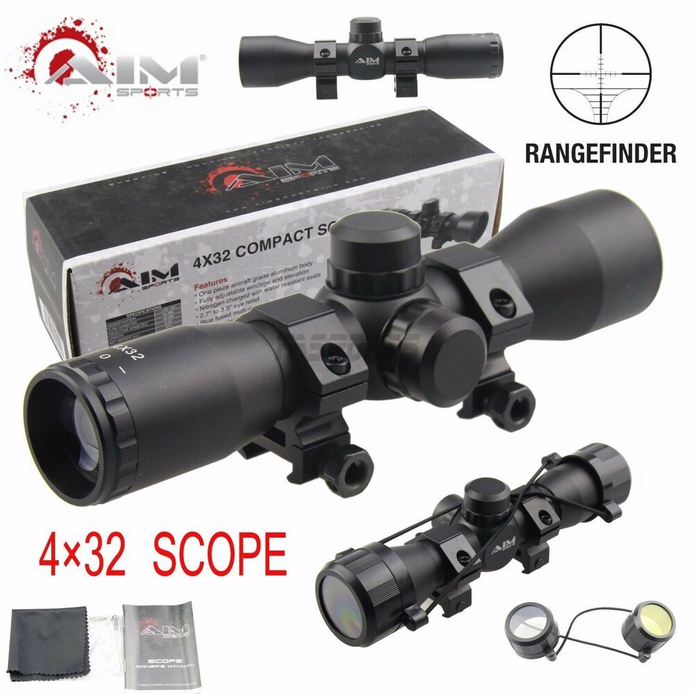 Aim Sports X Compact Rangefinder Scope With Rings