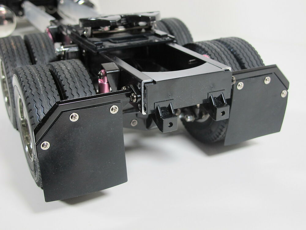 Semi Truck That S Also A Toy Car Holder : Pair aluminum angle mud splash flap guard mount for tamiya